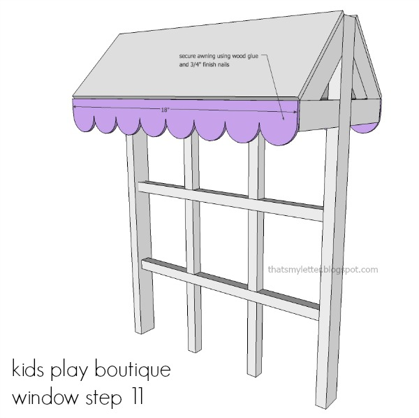 diy kids playstand boutique awning