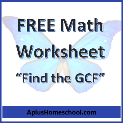math worksheet : aplus homeschool resource blog  free lesson plan math ebooks  : Gcf Math Worksheets