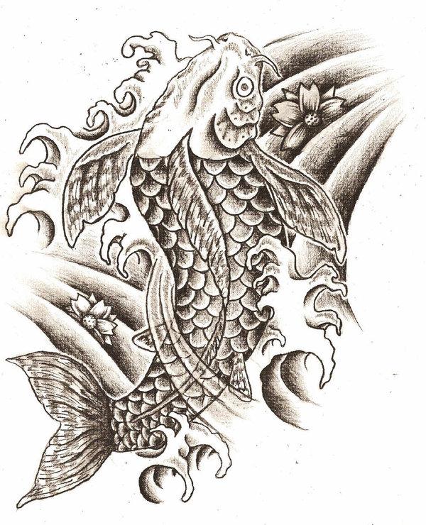 Tattoo art designs blog tattoo lawas for Black koi fish meaning