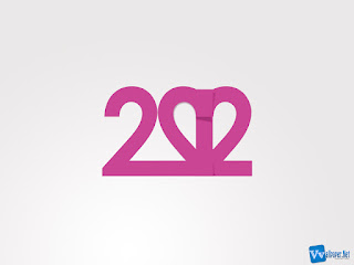 2012 Text Simple Purple HD Wallpaper