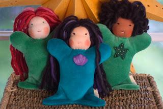 mermaids, bamboletta, dragonflys hollow, waldorf doll, tansy dolls