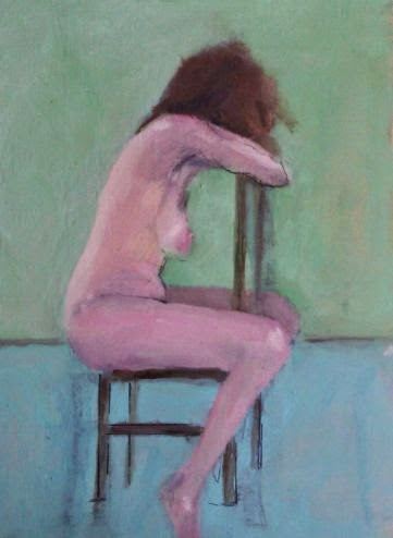 Mark Lawton-Browne,Nude Seated,life painting