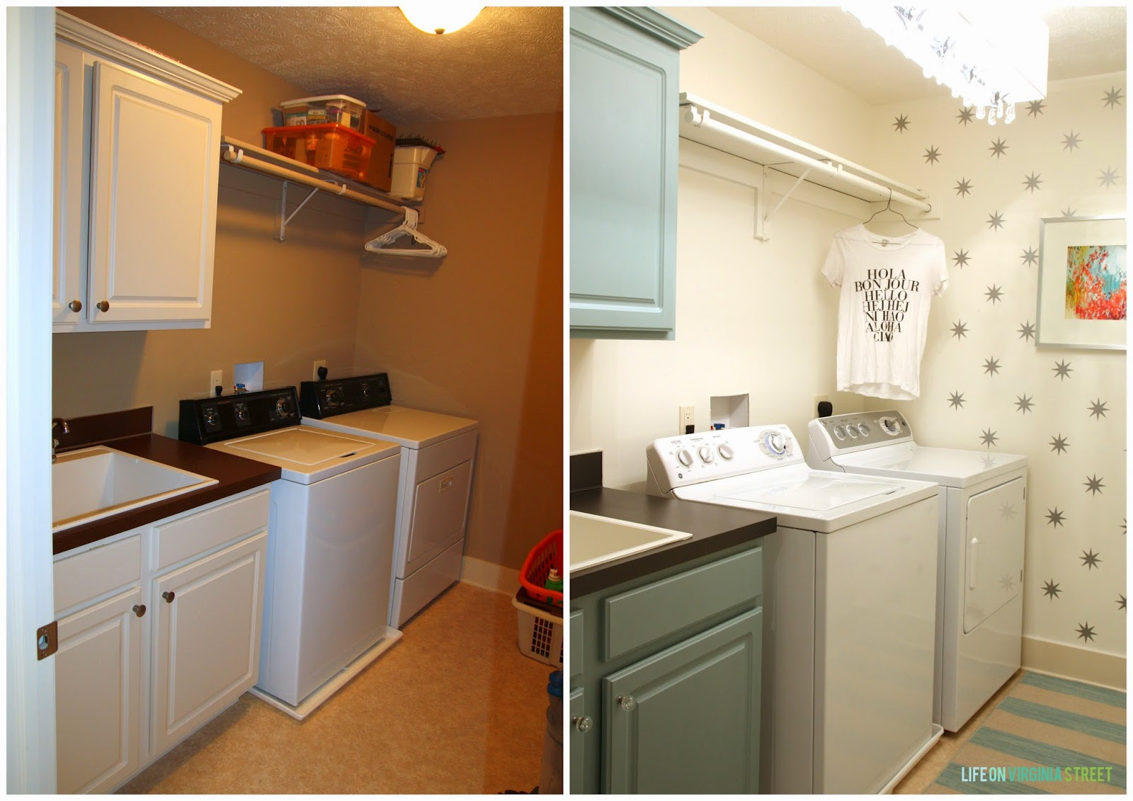 10 beautiful room makeovers life on virginia street for Laundry room redo blog