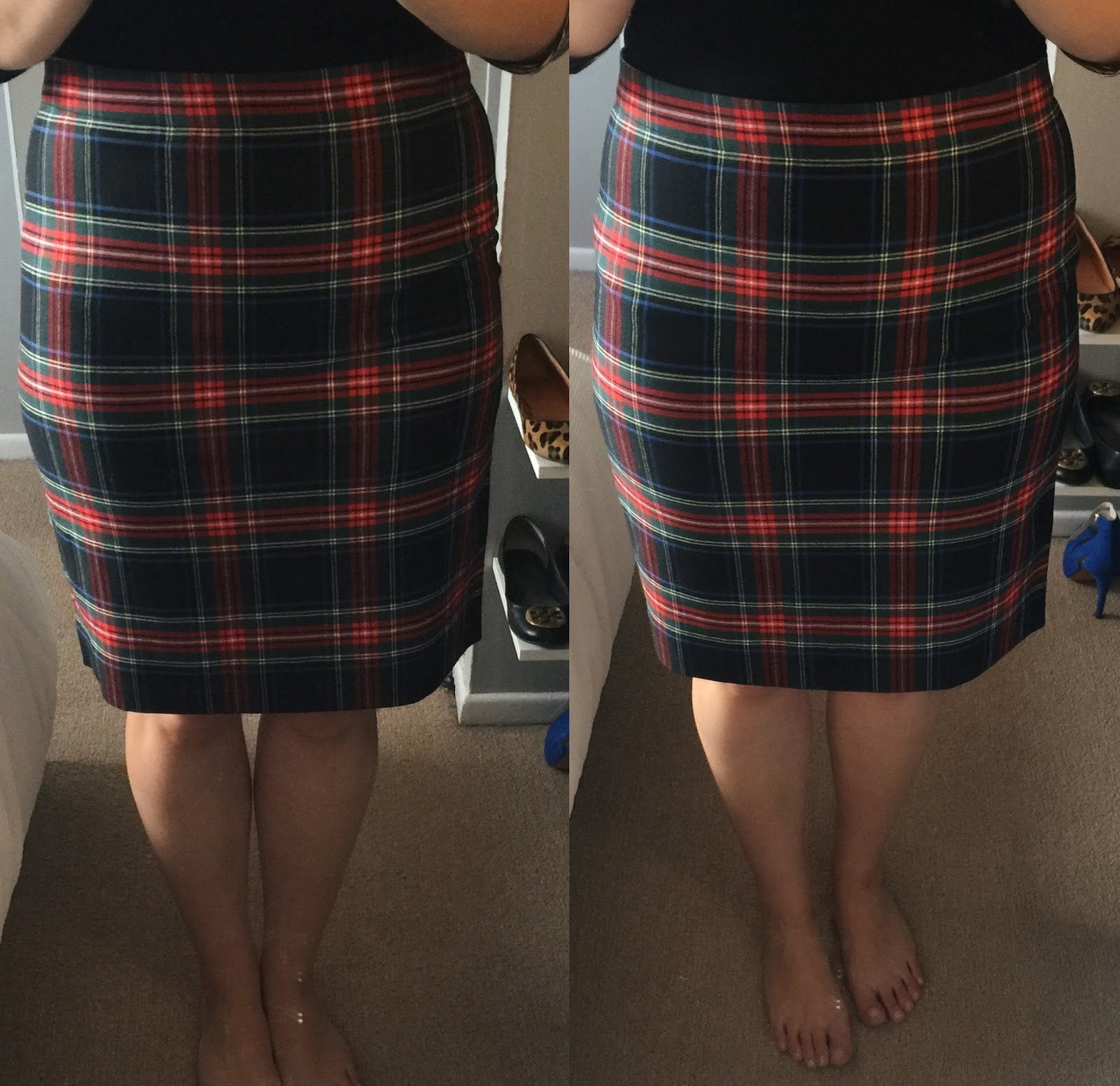 FACTORY PLAID TARTAN SKIRT