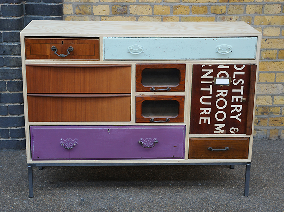 Dishfunctional designs upcycled dressers painted wallpapered decoupaged - Upcycling ideas for furniture ...