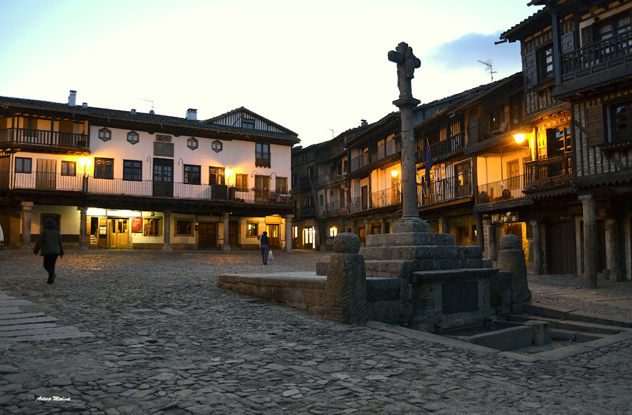 la alberca a little typical town spanish in spain t a