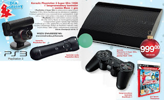Konsola Playstation 3 Super Slim 12GB Biedronka ulotka