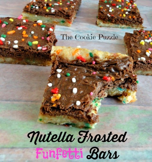 Nutella Frosted Funfetti Bars