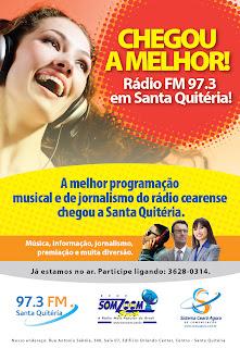 Uma nova frequência esta no ar! SOM ZOOM SAT - Santa Quitéria  FM 97,3.
