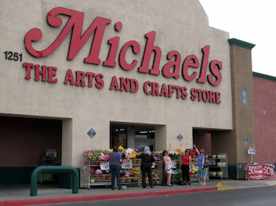 Scrapbookers outside Michaels in Las Vegas