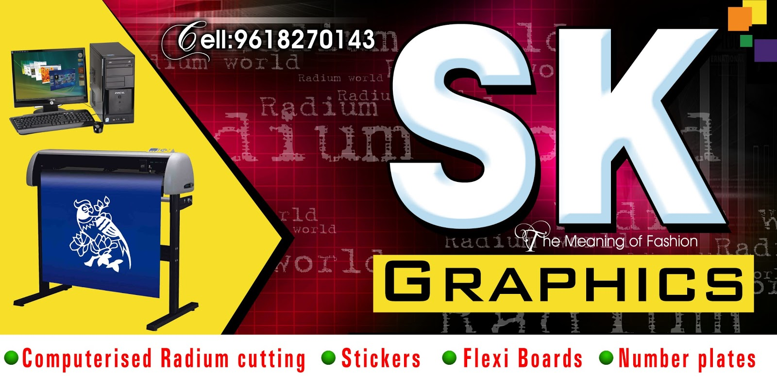 Digital banner design for psd files - Radium Shop Outdoor Advertising Flex Banner Mockup Sample