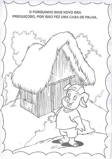 Páginas para colorir Os três porquinhos 18 desenhos para  - imagens para colorir dos tres porquinhos