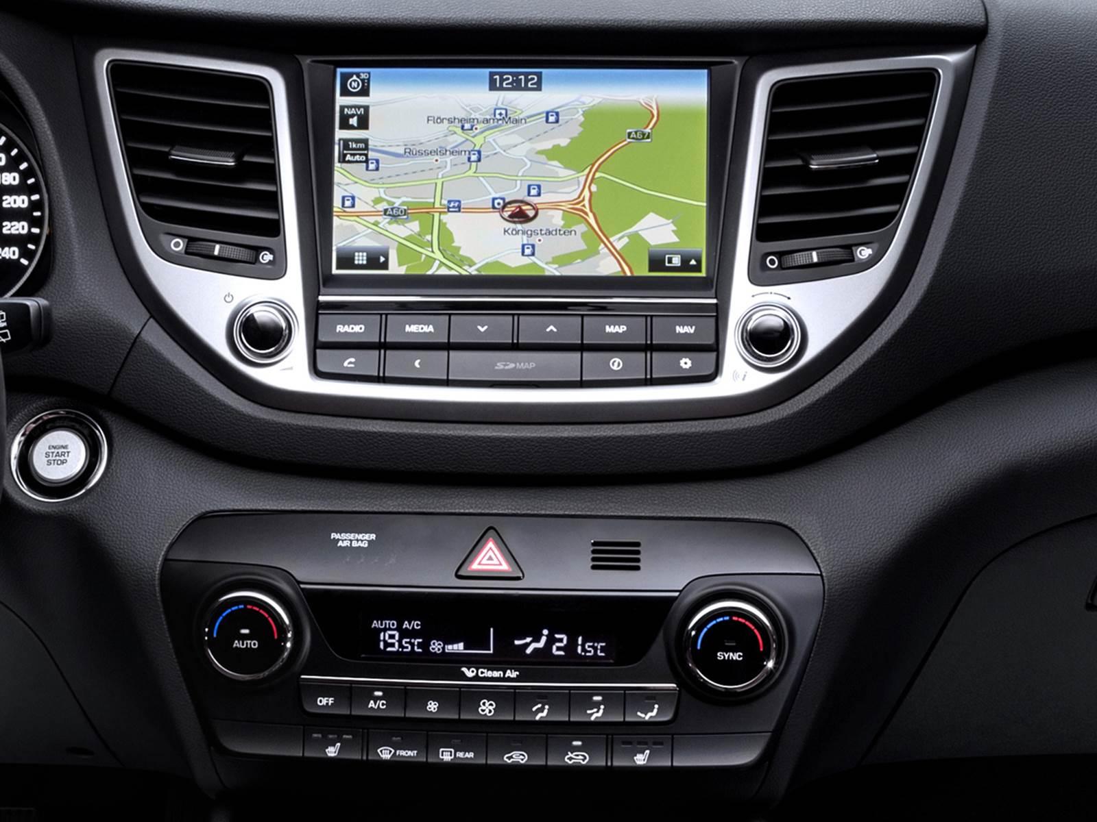 Novo Hyundai Tucson 2016 - infotainment
