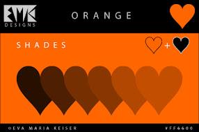Shades of Orange: