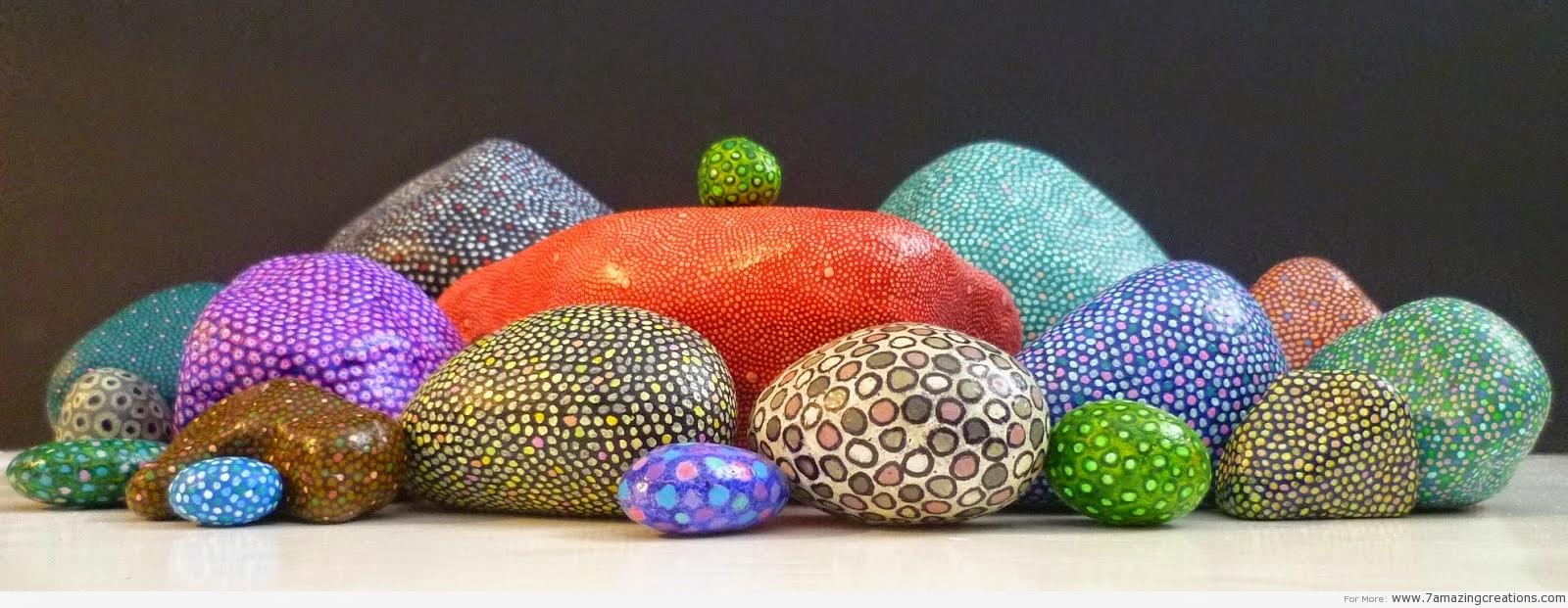 El arte de crear actividades de aula piedras pintadas - Pintura color piedra ...