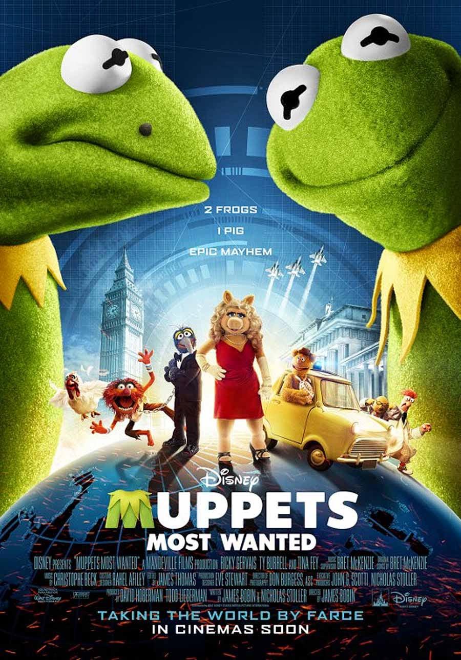 Muppets 2 Los Mas Buscados 2014 [DvDRipAudioLatino][Musical]