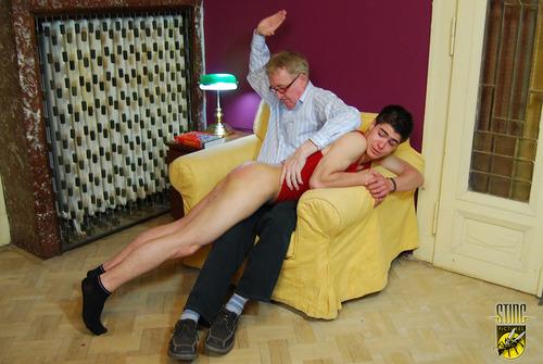 Dance spank the boy
