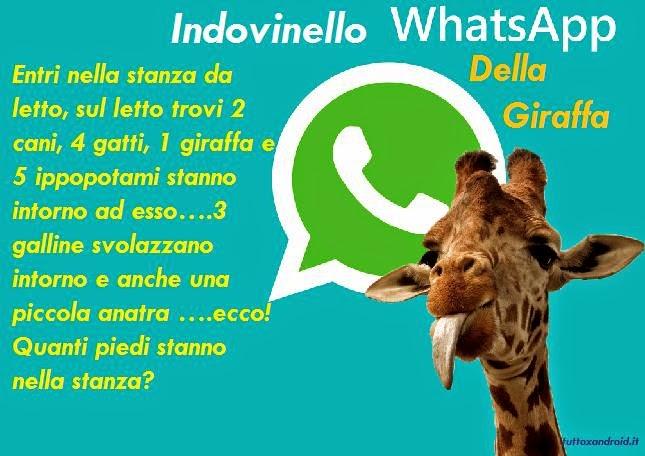 Whatsapp Indovinello Della Giraffa Ecco La Soluzione Per Non