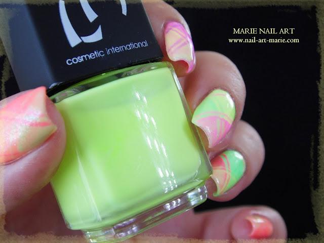Nail Art Ecossais Pastel Fluo3
