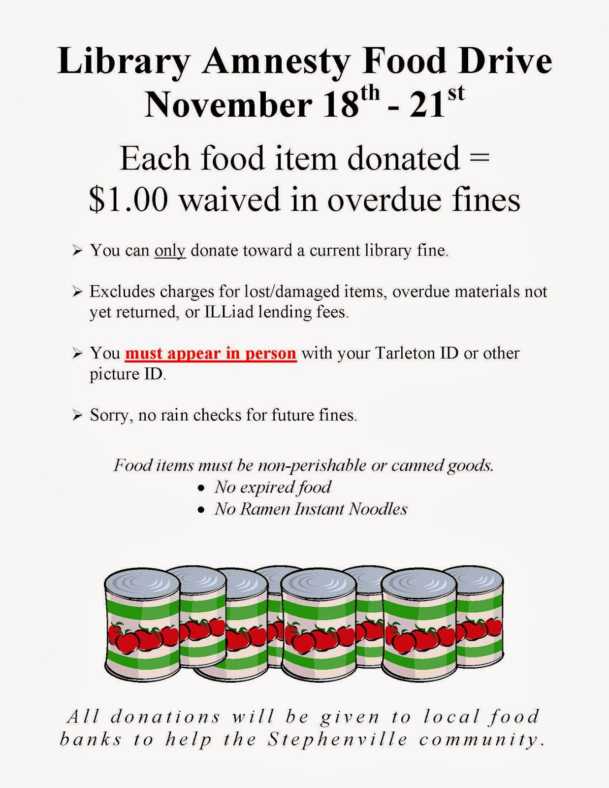 Thanksgiving food drive flyer templates library amnesty food drive