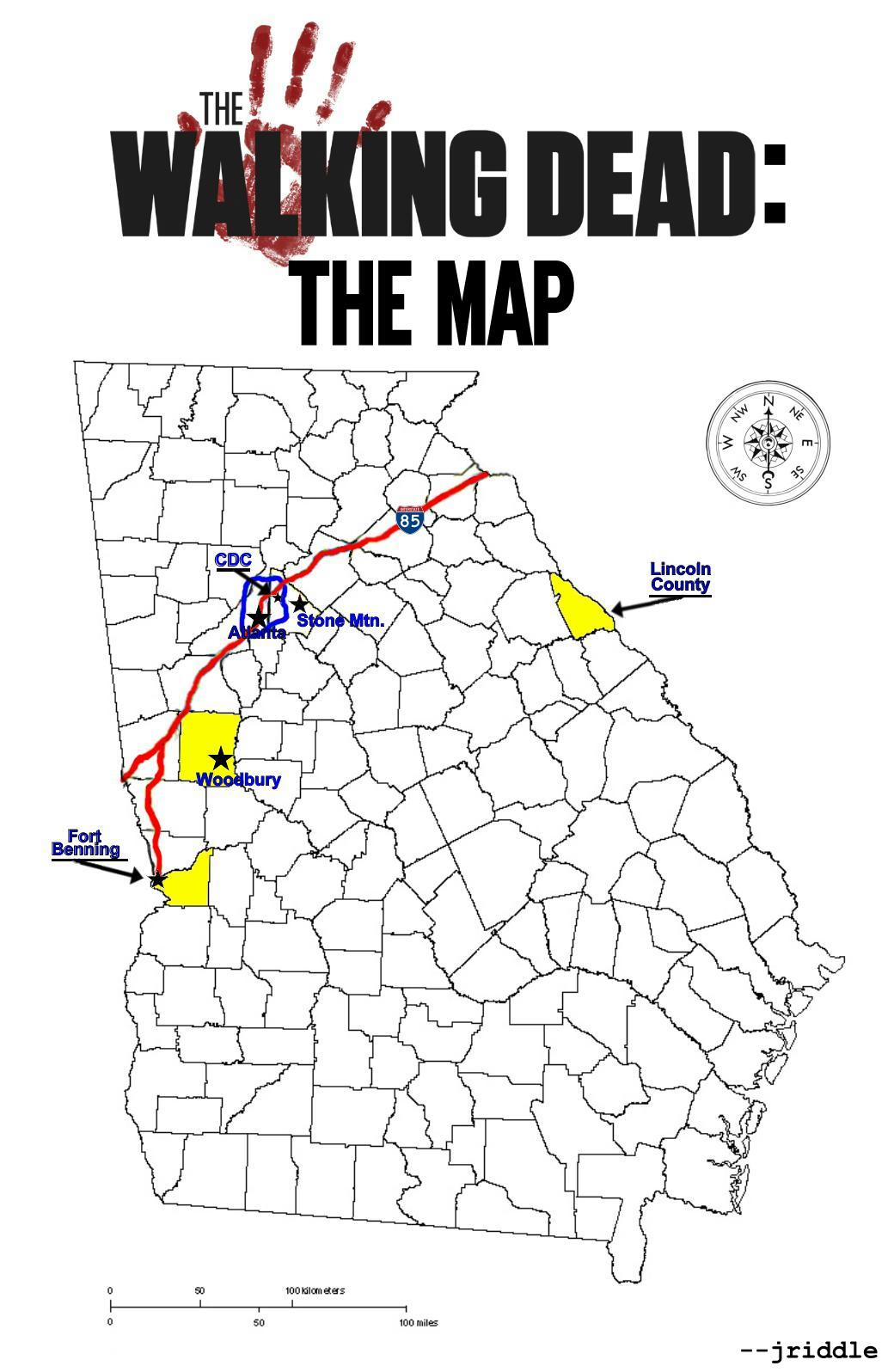 THE DIG The Geography of THE WALKING DEAD