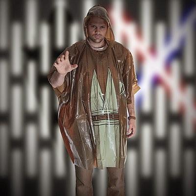 Poncho Jedi para la lluvia
