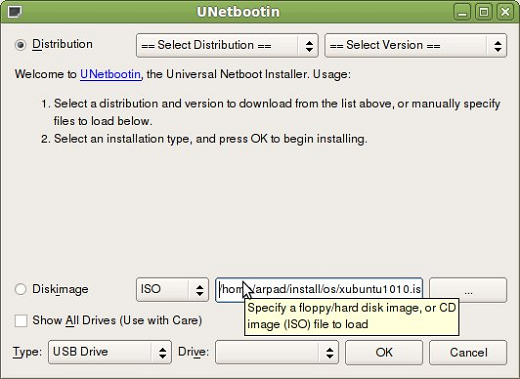 UNetbootin Tool for Mac OS X