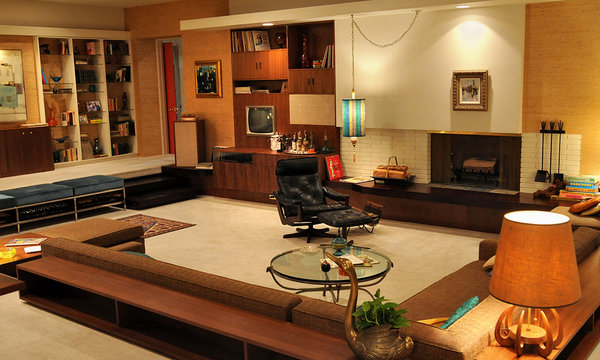 Mad men style a look at 1960 39 s decor the cottage market for Living room 60 s