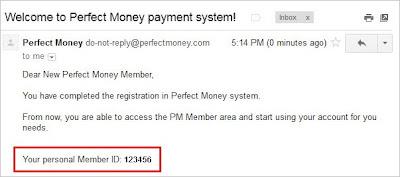 Cara pendaftaran akun Perfect Money (PM)