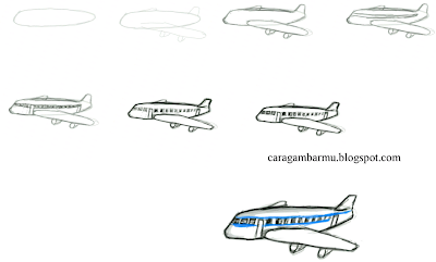 how to draw aeroplane easily step by step for beginners