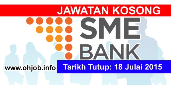 Jawatan Kerja Kosong SME Bank logo www.ohjob.info julai 2015