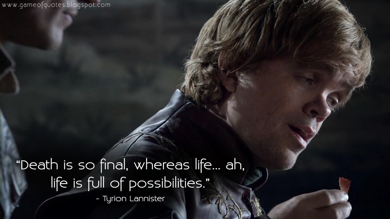 Movie Life Quotes 15 Beautiful Game Of Thrones Quotes