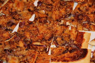 Firebug Grill'n Sauce BBQ Chicken Pizza with Rosemary Flatbread Crust