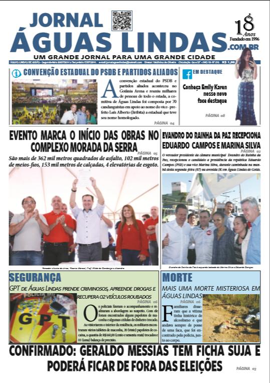 ediçao 216 do Jornal Águas Lindas