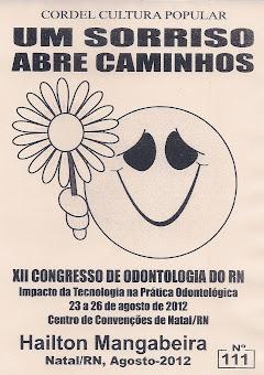 Cordel: Um sorriso abre caminhos, Nº 111. Agosto/2012