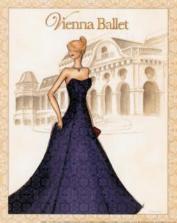 Chica vestida para el ballet de Viena