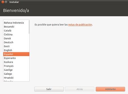 inicio instacion ubuntu 11.04