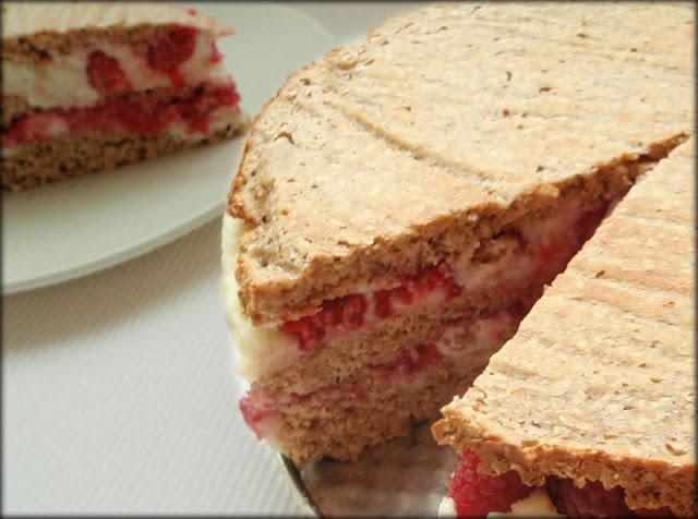 ciasto z kaszy manny i malin