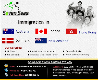 Immigration consultant in Delhi, India, Skilled Immigration, immigration, immigration services, Seven seas, seven seasedutech