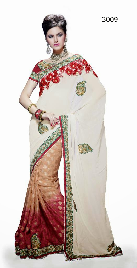 Letest Lengha type Saree-Online Shopping, Exclusive Designer Embroideries Resham Work Saree in Pune