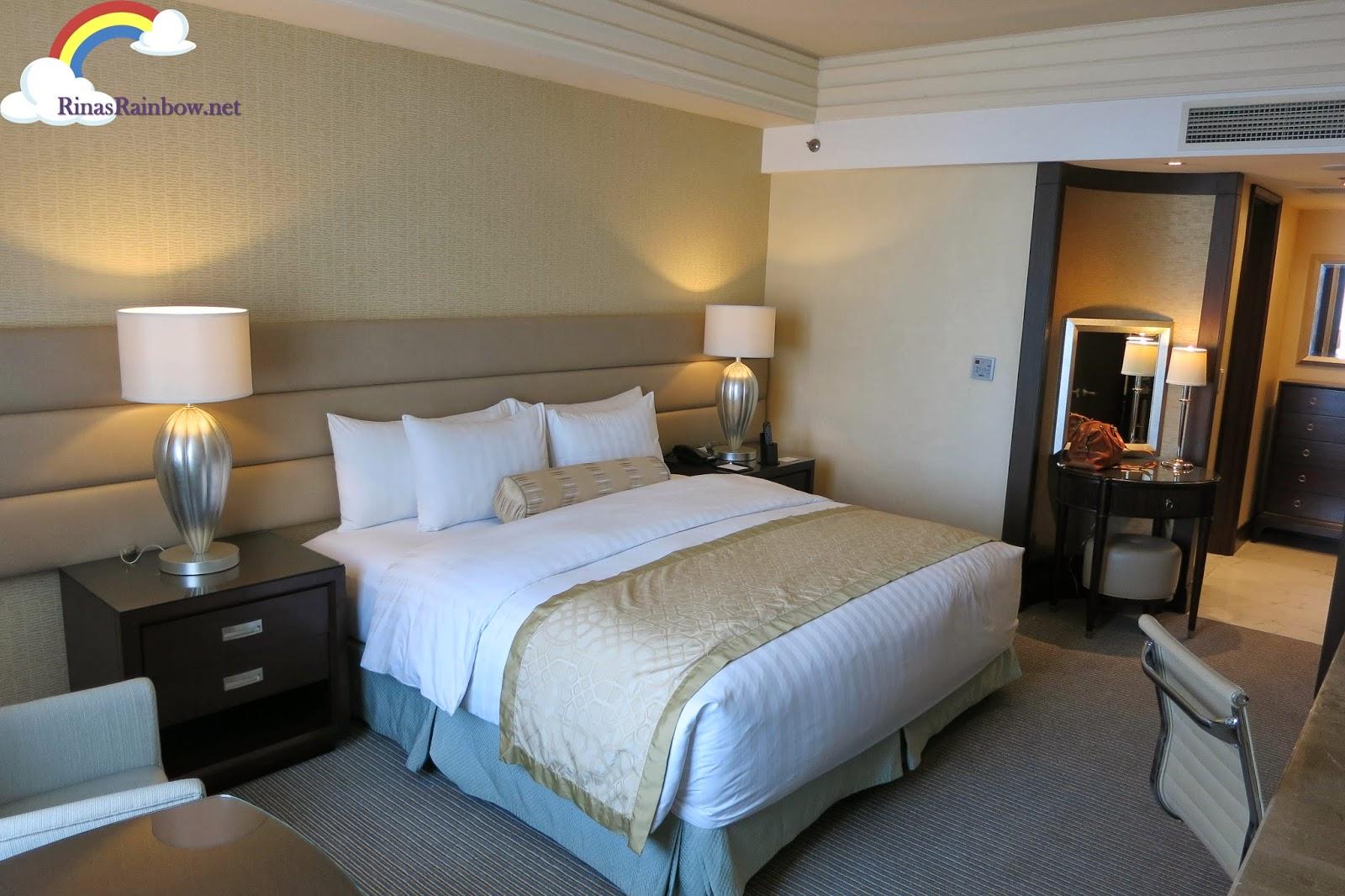 crimson hotel room