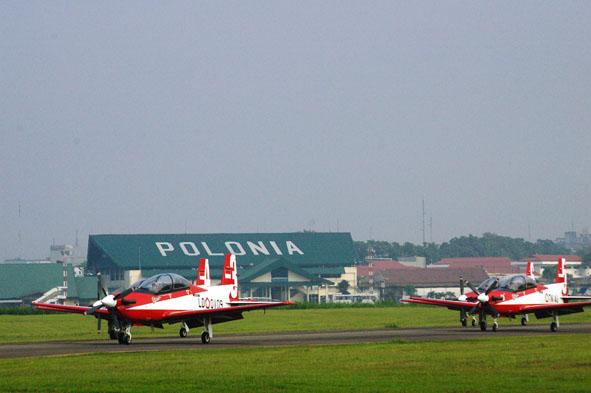 Bandara Polonia Jadi Markas Pesawat Intai TNI AU