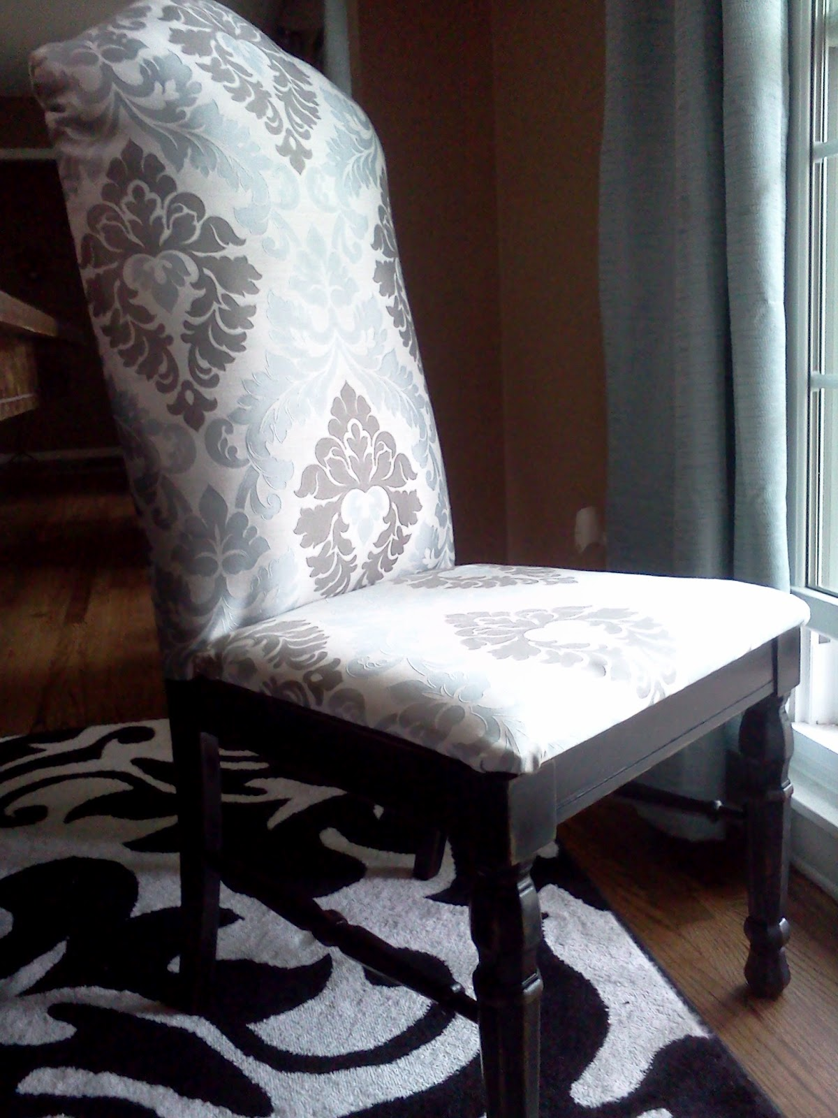 Proverbs 31 Mom How to Turn a Cane Backed Chair into a Parsons Chair