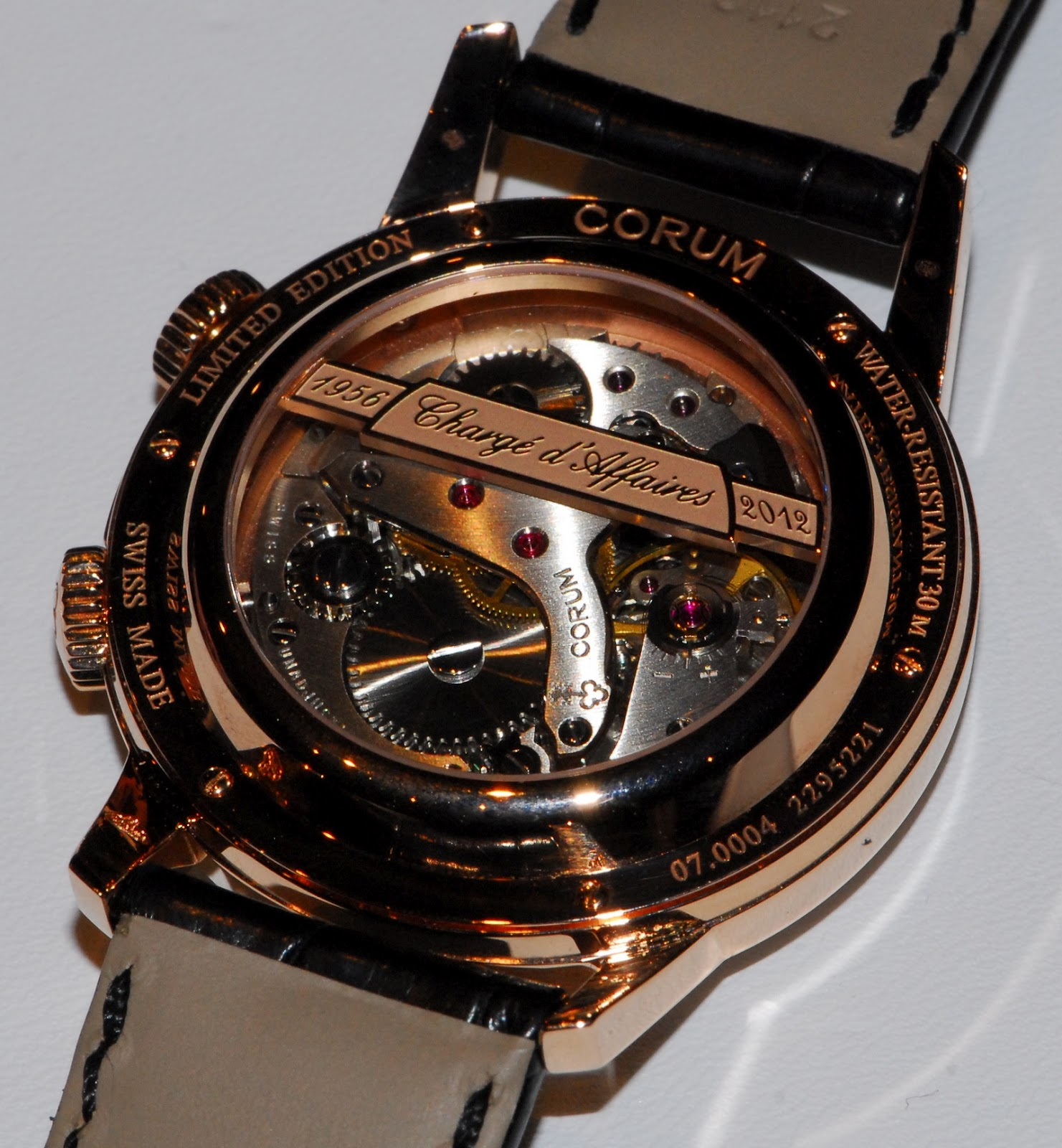 corum - News : Corum Heritage Vintage Chargé d'Affaires Calibre+A+Schild+1475+Corum+Charge+Affaires