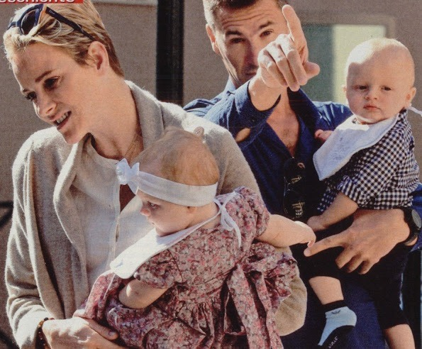 Princess Charlene, Princess Gabriella And Prince Jacques In Die Aktuelle Magazine