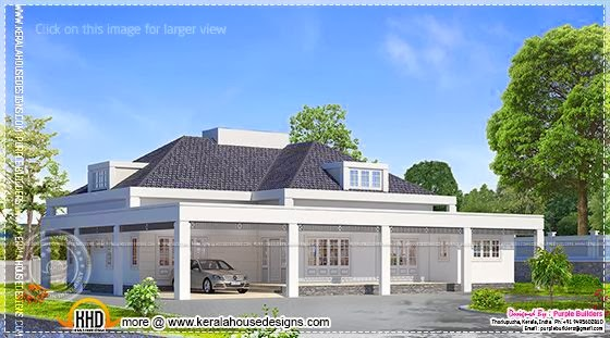 Single floor European style home