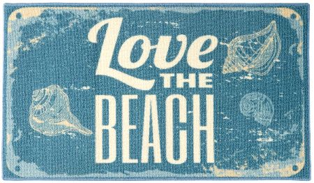 Blue Love the Beach Accent Rug
