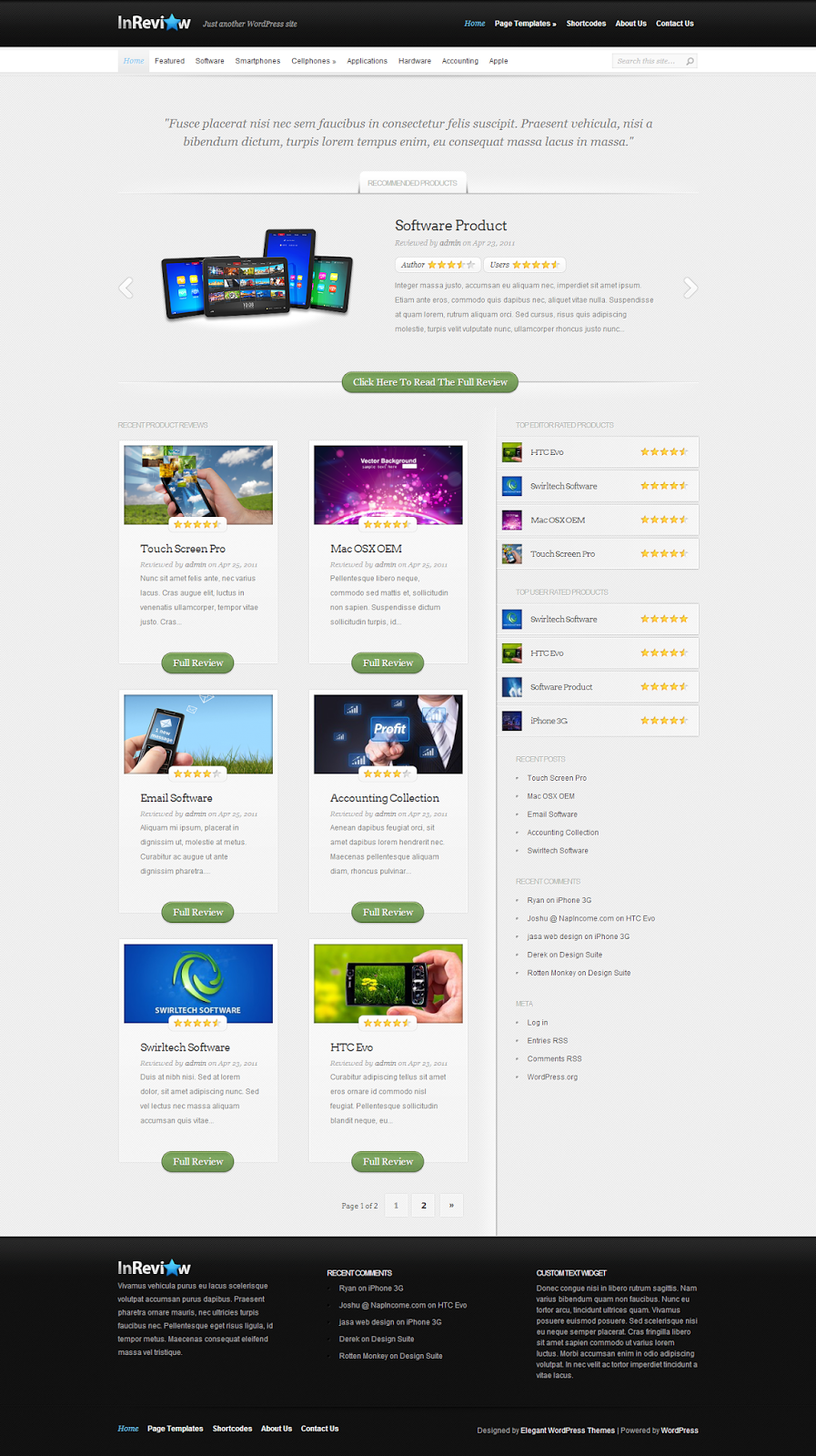 InReview Review WordPress Theme