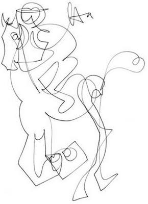 Boceto Jinete Montado A Caballo