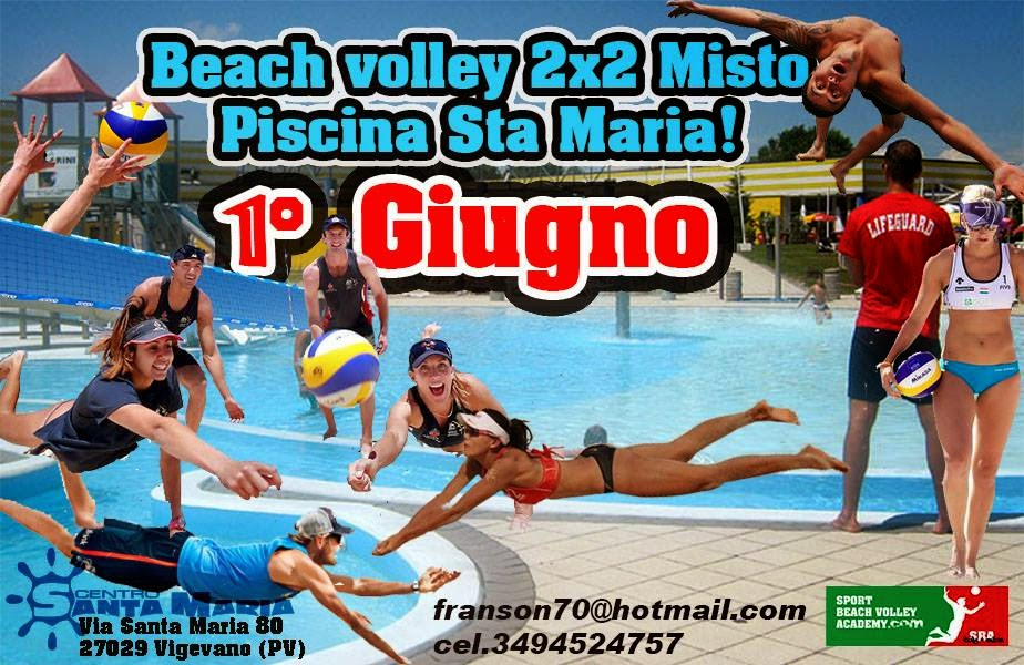 Tornei beach piemonte 01 06 2014 torneo beach volley 2x2 for Piscina hinchable 2x2